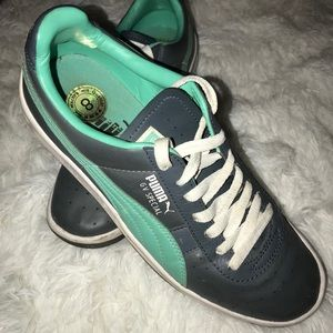 Puma GV Special gray and teal shoes
